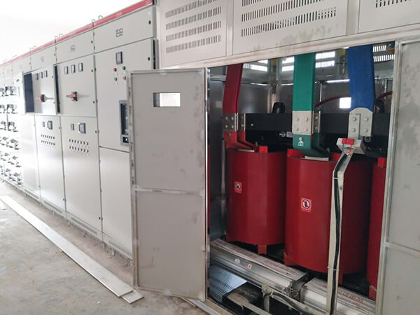Dry type transformer installation